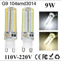 Wholesale 2016 New G9 G4 E14 LED Corn Light W W V V SMD3014 Sillcone body Mini LED Bulb Crystal Chandelier Spot Light