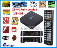Wholesale Genuine G BOX Midnight XBMC13 Matricom MX2 CS838 R28 Dual Core Android Smart Media Player MX Amlogic GB GB DHL