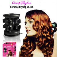 magic roller - MOQ5PCS New Solid Ceramic Tourmaline Hair Styling Shells Magic Curler Hair Iron Perfect Curling Iron Beauty Roller V V