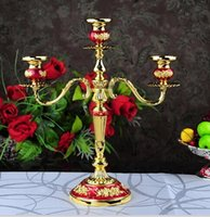 Wholesale 2015 new French Classical Mental Wedding Celebration Candle holder gold silver