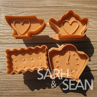 Cutter afternoon tea accessories - SLH088 afternoon tea Plunger Fondant Biscuits Cutter Decorating Sugarcraft Gum Paste Tools Cupcake Kitchen Cookie accessories