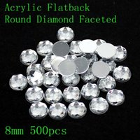 Wholesale Hot selling acrylic flat back round special faceted many sizes crystal color small bags round shape glue on beads decorate DIY