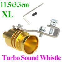 Wholesale Golden Universal Car Vehicle Turbo Sound Whistle Exhaust Pipe Tailpipe Fake BOV Blow off Valve Size XL cm