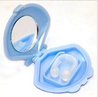 Wholesale New Silicon Stop Snoring Nose Clip Anti Snore Sleep Apnea Aid Device Night Tray