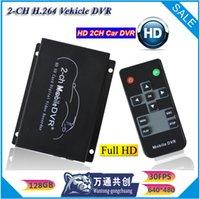 al por mayor cuadros por segundo-2-ch de tiempo completo de bus SD tarjeta de vídeo dvr DVR Frame rate: 5 FPS 15 FPS 30 FPS Opcional