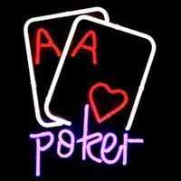 ace games - HOT Eagle quot x14 quot Poker Heart Ace Game Room Real Glass Neon Light Signs Bar Pub Restaurant Billiards Shops Display Signboards