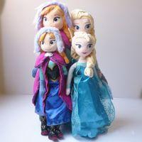 Wholesale High quality cm cm The Movie Frozen Plush Princess Elsa and Anna Plush Dolls Great Toys For Children