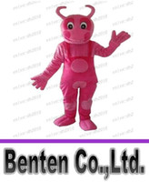 backyardigans costume - Free shippinVivid Pink Uniqua The Backyardigans Mascot Costume With Long Thin Tentacles Bright Big Eyes Protruding Face Adult Size LLFA4200F