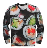 japanese fashion clothing - Four size hot fashion sweater for Women Men print sweatshirt Funny d hoodies delicious food the Japanese sushi clothes TWY057