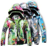 Wholesale Camouflage Ski Jacket Outdoor Skiwear Snowboard Ski Clothes Womem Ski Suit Warm Down Coat