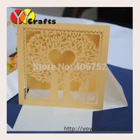 apple invitations - 50sets Newest design love apple tree bride and groom wedding invitation card design