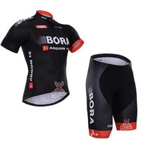 Wholesale 2015 BORA Short Sleeve Bicycle Jersey Cycling Jersey Ciclismo and Cycling Bib Shorts Kit Summer Cycling Clothing B18
