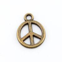 antique jewelry marks - Hot Antique Bronze Alloy Peace Mark Charm Pendants x mm DIY Jewelry