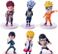 Wholesale Anime Naruto Action Figures Naruto Kakashi Gaara Rock Lee Minato Neji PVC Figure Toys set of