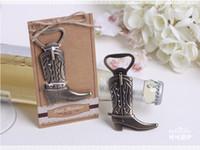 beer shoes - Alloy cowboy boots beer bottle opener Shoes open bottle opener European wedding Favor