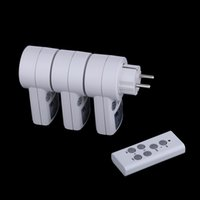 electrical outlets - 3 Pack Wireless Remote Control Power Outlet Socket Switch Set for Lamps Household Appliance V V Electrical EU Plugs H14903EU