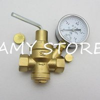 temperature controlled water valves - 1 quot Water pressure reducing valve line relief valve with guage reducing valve Brass
