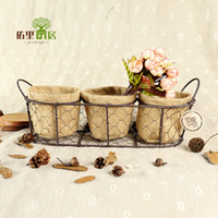 Wholesale 5 wire rope hand woven baskets crafts creative home office storage box factory Decoration