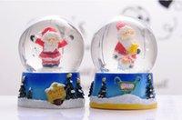 christmas music box - 2014 Christmas gifts Christmas grandpa Christmas Sleigh rotary crystal ball music box crystal snowball