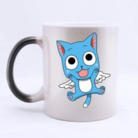 anime cat mug - Anime Lovely Happy Cat Customized Personalized Coffee Cups Mugs Water Coffee Mug Ceramic Morphing Gift Two Sides Printed
