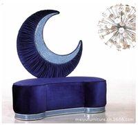 Sofá de estilo europeu Lua sofá da tela sofá mosaico mobiliário Itália SICIS