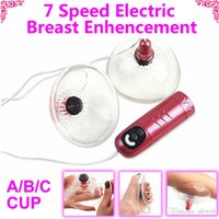 Wholesale 7 speed automatic electric breast enhancer enlargement massager vibrators for A B C cups