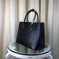 bag crochet patterns - Ostrich pattern Leather Totes for women Abosutly Original quality leather Women Honorable perferred Fashion bags factory price