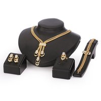 costume fashion jewelry - Jewelry Set For Women Gold Glated Beads Collar Necklace Earrings Bracelet Fine Rings Sets Party Costume Latest Fashion Trendy CT065