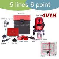 Wholesale 2015 Hot High quality line point cross line laser level red laser line auto leveling Rotation