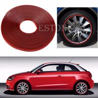 Wholesale Hot Anti Scratch Wheel Rim Edge Protection Guard Tape For Cars Motorbikes Red