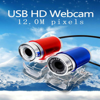 Wholesale 12M Pixels USB MP HD Webcam Web Cam Camera Degree for Computer Laptop PC Tablet New High Quality Blue Red C01
