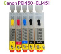 Wholesale olor empty with chip PGI450 CLI451 Refillable ink cartridge for Canon PIXMA IP7240 MG5440 MG5540 MG6440 MG6640 MG5640 MX924