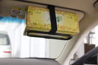 abs rack case - isor speaker Car Tissue box shelf paper towel rack Suitabsle for sun visor or headrest installation Suitable for most tissue boxes SD
