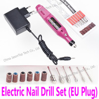 achat en gros de machine pour le ponçage-Gros-électrique Manucure Drill Perceuse Set Perceuses à ongles professionnels Ponçage Outils Styling Drill Feet Machine Pédicure Product Care