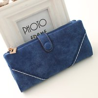 Wholesale European and American vintage lace buckle frosted explosion wallet Ms long section clutch wallet purse B108