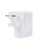 Wholesale 4 USB Posts V A AC Adapter UK Plug Wall Charger Adapter for iPhone iPad Samsung HTC LG Smartphone Tablet
