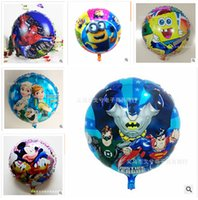 inflatable - Superman Frozen Elsa Anna balloons for party Helium shaped cartoon foil Minions balloons Inflatable toys Mickey for kids style R00374
