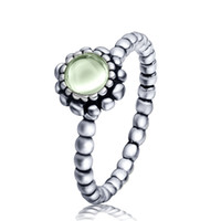 Wholesale 925 sterling silver ring olivine jewelry ring party birthday present the highest quality