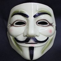 ask yellow - V For Vendetta Yellow Mask Halloween Mask Masquerade Eyeliner Nostril asks Anonymous Valentine Ball Party Full Face Super Scary Guy Fawkes
