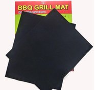 Wholesale BBQ Grill Mat Set of Non Stick Reusable Washable Plate PTFE Coated Telflon Mats DHL Free