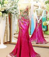 custom made cheongsam - Applique Cheongsam Custom Made Beading mermaid evening dresses Prom Party Gown Bateau Sheer Evening Gowns formal dresses evening