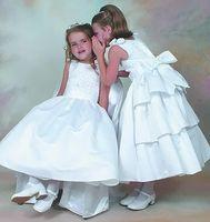 beauty centre - Girl dress white nail bead cascading centre backs bowknot adornment shoulder flower girl dress PROM dress beauty dress applique children