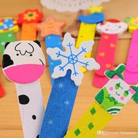 Wholesale color wooden bookmark with ruler kid animal pattern with scale Bookmark new clip paper H0200a