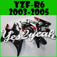 Wholesale Yes2yeah Injection Mold Fairing For Yamaha YZF R6 YZF R6 Body Work Red Black Y64Y39 Free Gifts