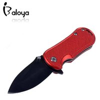 Wholesale Cold Steel Portable Folding Knife Outdoor Rescue Camping Pocket Knives Aluminum Sheet Overmolded Handle Gift Craft knife