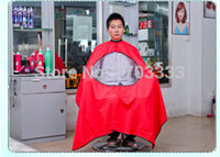 Wholesale Barber cloth new Waterproof transparent viewing window hairdresser hairdressing salon haircut styling tools hair cut cloth