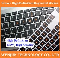 Wholesale FreeShipping High definition French keyboard sticker French computer stickers cover for laptop desktop order lt no track