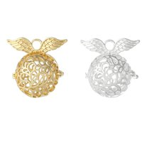 Wholesale Hot Harmony bola pendant necklaces with chime balls silver gold pregnancy wishing ball charms pendant necklace gift Baby Angel caller bola