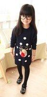 Wholesale Christmas Shirt Dress Korean Sweater Dresses Kids Dresses Spring Autumn Princess Dress Children Clothes Girl Dress HX