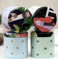 tinplate tin cans - 5pcs Korea creative stationery new tinplate tin cans circular storage box caddy